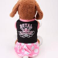 2014 new autumn winter leisure pet supplies pet dog clothes breathable cotton manufacturers selling wholesale pet dog dress