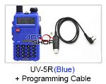 BAOFENG (BLUE) UV-5R UU Radio+USB Prog Cable