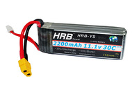 HRB   Free shipping Lion Power Lipo battery 11.1V 2200MAH 30C 3S1P Max 60C XT60 RC Lipo battery for DJI Phantom trex 450