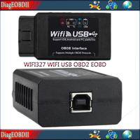 promotion for  20pcs / lot  WIFI327 WIFI USB OBD2 EOBD Scan Tool  TOP A quality WIFI -USB elm327