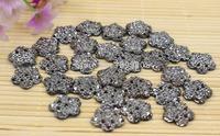 Free shipping 100pcs/lot bingbing resin flower shaped rhinestone for Fashion jewelry accessories