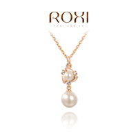 ROXI fashion new arrival, genuine Austrian crystal,Delicate pearl necklace, Ms dinner jewelry Chrismas /Birthday gift2030018330