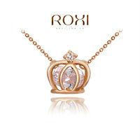2014 ROXI brands fashion necklace/Chrismas gift,Austrian crystal,fashion Environmental women Imperial crown Jewelry2030901375