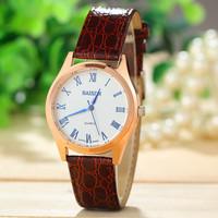 Fashion Women Dress Watches Golden Dial Quartz Watch PU Leather Strap Smart Clock women wristwatches