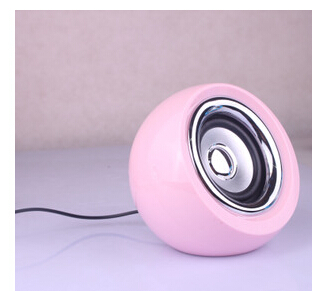 2.0 mini speaker USB cell phone and computer pink and blue double plastic speakers for both office and home(China (Mainland))