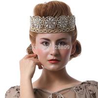 Luxurious  beauty contest Queen crown  Princess crystal bridal diadem  silver bridal tiaras wedding  dress accessories