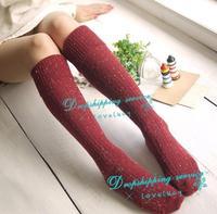 Ms. Wool Socks Flanging High Socks Knee Socks Free Shipping
