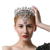 New style handmade tassles crystal Queen crown  Princess nice frontlet  bridal diadem bridal tiaras wedding  dress accessories