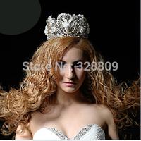New style handmade lace crystal Queen crown  Princess nice crown  bridal diadem bridal tiaras wedding  dress accessories