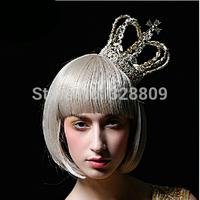luxury big Queen crown  Princess birthday gfit cosplay crown wedding bridal diadem bridal tiaras wedding  dress accessories