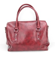 H060(darkred) PU Leather Handbag, Various Designs and Colors Available,Free shipping