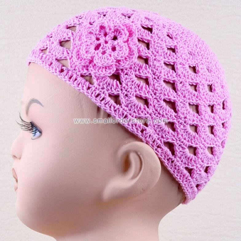 Crochet Baby Flower Hat - 2031(China (Mainland))