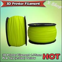X-SHOP Free Shipping X! 3D Printer Filament 1.75mm PLA 1KG Yellow