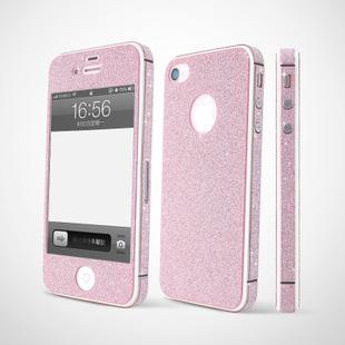 For iphone4/4s stunning body stickers border flash diamond phone film 1pc free shipping(China (Mainland))