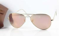 New Style Best Quality Brand Sunglass Fashion Sunglass Men's/Women's Designer 3025-001/Z2 Gold Sunglass Pink Mirror Lens 58mm