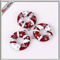 Wholesales diy Christmas crafts silver plated flower pendants