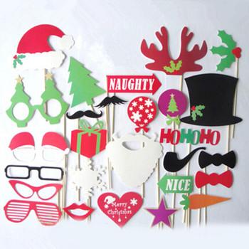 Новый и Hot DIY рождество фотография бут реквизит Hat усы на палочке на день рождения ну вечеринку весело пользу
