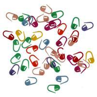 Plastic 200pcs Mix Mini  multicoloured  Knitting Crochet Locking Stitch Markers Holder Needle Clip Craft
