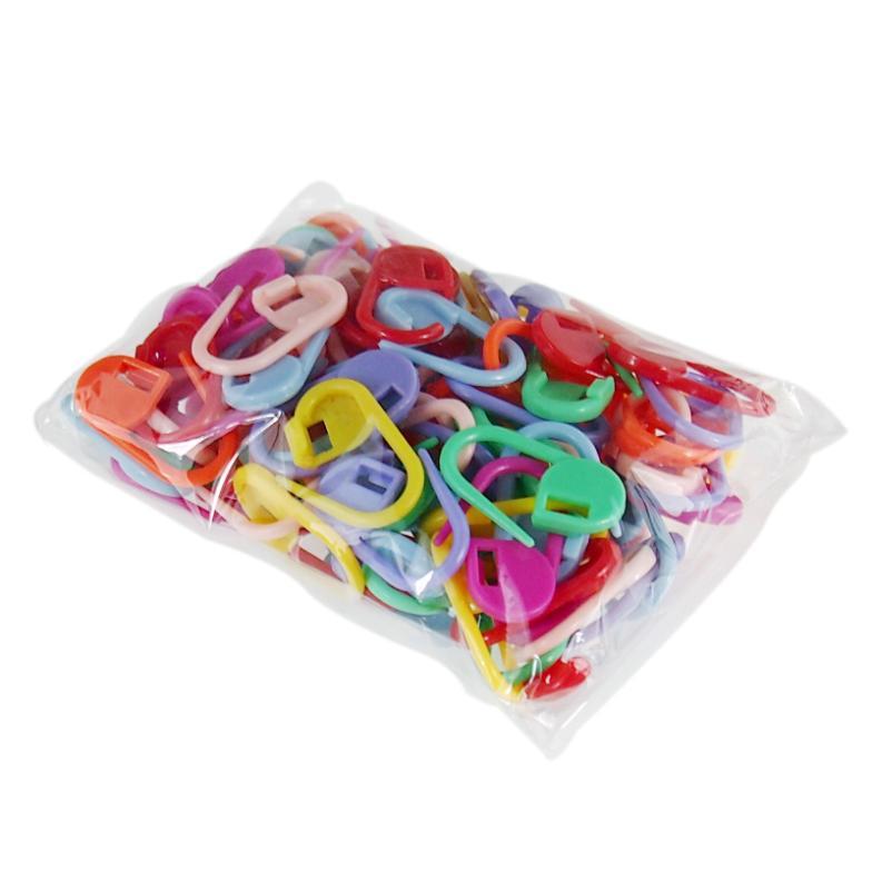 Plastic Markers Holder Needle Clip Craft 50pcs Mix Mini Knitting Crochet Locking Stitch 50pcs(China (Mainland))