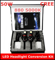 New CREE 880 50W 5000K LED Headlight Conversion Kit 2*25Watt LEDs Lamp