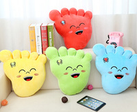 Super cute 1pc 40cm cartoon lovely little smile foot plush doll pillow home decoration stuffed toy creative gift for baby