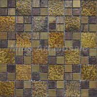 [Mius Art Mosaic] Big square Copper mosaic tile in bronze brushed for kitchen backsplash A6YNPO017