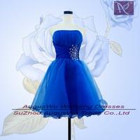 APB0120   Hot Sale Latest Design Short Mini Beaded Navy Organza Prom Dresses size 2 4 6 8 10 12 14 16
