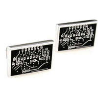 circuit board Cufflink Cuff Link 15 Pairs Wholesale Free Shipping