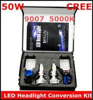 New 9007 50W 5000K CREE LED Headlight Conversion Kit 2*25Watt LEDs Lamp