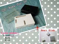 wholesale 5pcs/lot  ABS Pi Box case for Raspberry Pi model b plus + 3pcs pure aluminum heat sink