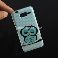 Cartoon Cute Shy Owl Bird Soft TPU Case Cover for Motorola Moto RAZR D3 XT919 XT920 Protective case