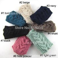 New Fashion elastic solid Women Crochet Headbands girls Winter Knitted Headwraps ear warmers for Girls Teens 10 pcs/lot
