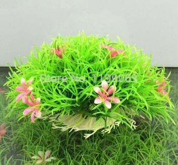 FD1113 Happy fishing Flower Flora Grass Fish Tank Aquatic Simulation Plant Ornament Decoration