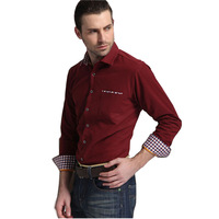 High Quality Thick spring autumn men warm casual shirt retro vintage long sleeve male corduroy shirt man's dress shirts