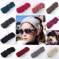 10 colors New Fashion Doughnut braid Style Women Crochet Headwraps Girls Knitted headband,20 pcs/lot