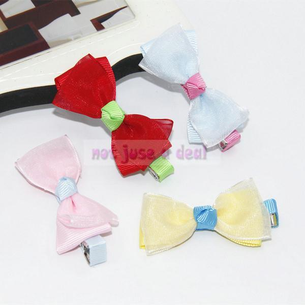 New Fashion Girl Baby Lace Hair Clip Bowknot Toddler Headband Braid Hair Pin 1pc(China (Mainland))