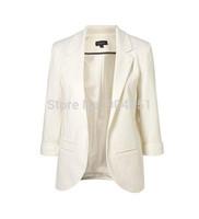 Drop Shipping Work Wear Blazer Women Feminino Refresh Blazers Fashion Coat Jacket Lady Plus Size Seven-Sleeve Solid Blaser Suits