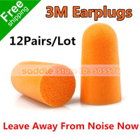 3M 1100 Earplugs Wireless Protection Against With Noise Soundproof Reduction Earplugs Foam Soft Good To Sleep12Pairs/Lot!!!
