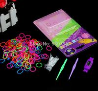 100pcs FREE SHIPPING 2014 Hot DIY Kids Kit Rubber bands Bracelet Watch Set Kids Toys digital watch loom electric watch
