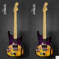 Top quality 2014 New Mickey Mouse color stickers Beginners professional electric guitar