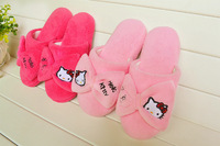 Hello Kitty Slippers Adult slipper home walk shoes  fashion comfortably warm pink/rose