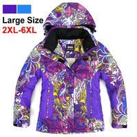 2014 winter women cotton warm outdoor wear Snowboarding skiing jacket ,-30 degrees ski jacket big size 6xl Free Shipping 131