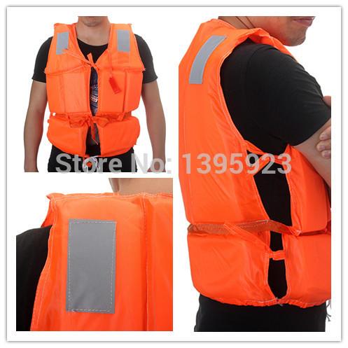 Free Shipping 1Pcs Popular Orange Prevention Flood Swimming Life Jacket Foam Buoyancy Vest Lifejacket(China (Mainland))