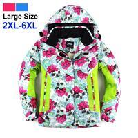 New Womens Ski Jackets Waterproof Windproof Warm Snowboard Jackets Mixed Color Women's Ski Jacket big size 6xl Free Shipping 131