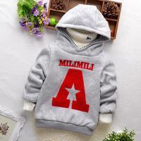 New High Quality Boys hoodies Winter warm hoody Children sweatshirt kids clothes hats  for children
