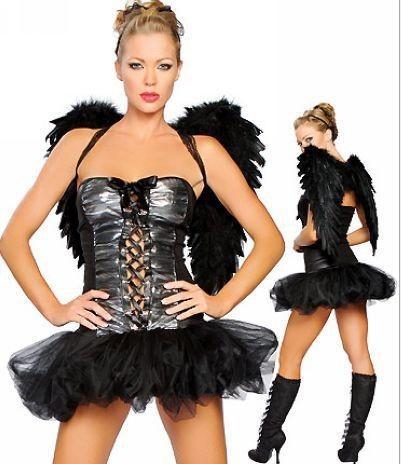 Halloween Costumes Black Angel Wings Costume Black Angel Wings