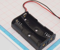 2*AA Battery Holder, for  2PCS AA battery, AA battery holder, 150mm long wire, 100pcs/lot