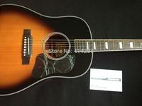 free shipping electric acoustic sunburst john lennon j160e sunburst guitar with fishman preamp eq