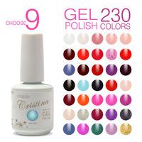 Choose 9 In 230 Colors Cristina French Color Temperature Change Luminous Color Uv Soak Off  Nail Gel Polish Sets