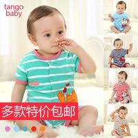 Wholesale 4 pcs/lot 2014 summer new born infant soft jump clothes toddlers short sleeve rompers children comfortable jump suit